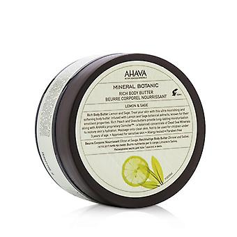 Ahava Mineral Botanic Rich Body Butter - Lemon & Sage 235g/8oz