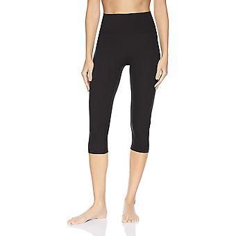 Core 10 Women's Standard Nearly Naked Yoga High Waist Capri Legging-21, Black...
