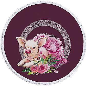 מגבת חוף חזיר בלרינה