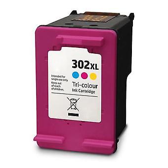 RudyTwos-Ersatz für HP 302XL Tinte Patrone dreifarbig kompatibel mit Officejet 3830, 3831, 3832, 3833, 3834, 3835, 4650, 4651, 4652, 4654, 4655, 4656, 4658, 5230, Deskjet 1110, 2130, 2132, 2134,