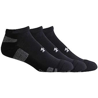 Under Armour HeatGear No Show 3 Pack Kids Fitness Exercise Socks Black