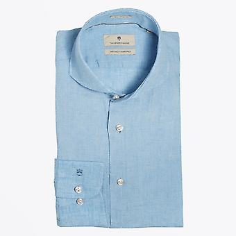 Thomas Maine  - Lightweight Linen Shirt - Blue