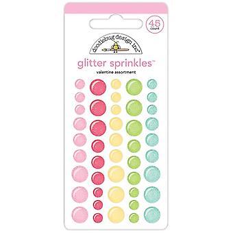 Doodlebug Design Valentine Assortment Glitter Sprinkles (45pcs) (5829)