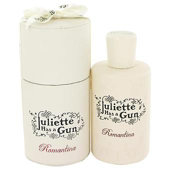 Romantina eau de parfum spray by juliette has a gun 100 ml