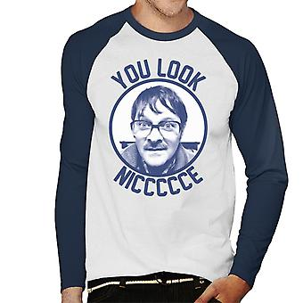 Friday Night Dinner Jim You Look Niccccce Men's Baseball Long Sleeved T-Shirt