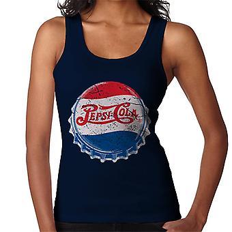 Pepsi Cola 1945 Extra ahdistunut BottleCap naisten liivi