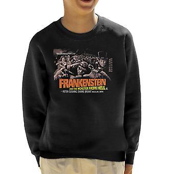 Hammer Horror Films Frankenstein Monster From Hell Grab Kid's Sweatshirt