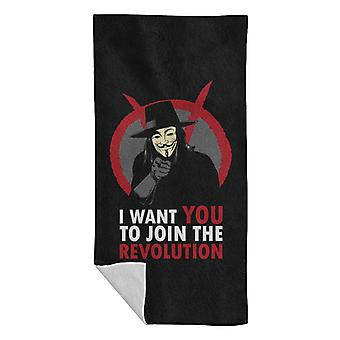 I Want You To Join The Revolution V For Vendetta Beach Towel