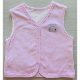 Idilbaby Baby Bunny Pink Reversible Sleeveless Vest