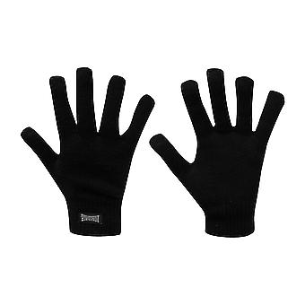Lonsdale Knitted Gloves Mens