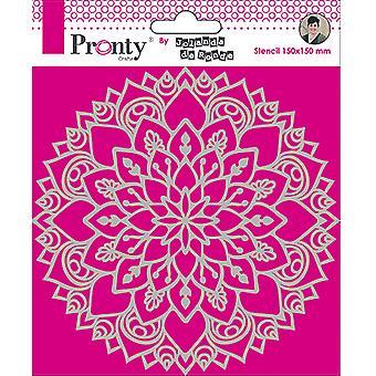 Pronty Crafts Mandala 3 6x6 Inch Stencil