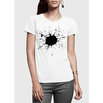Splatter half sleeves women t-shirt
