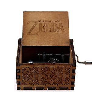 The Legend Of Zelda Hand Crank 18 Tones Wooden Music Box For Christmas,
