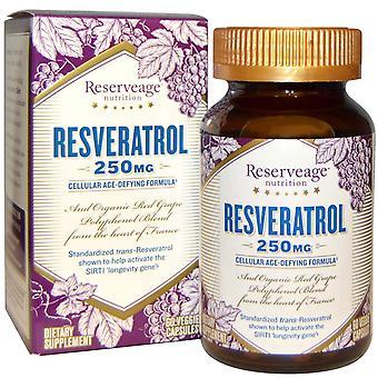 ReserveAge Voeding, Resveratrol, 250 mg, 60 Veggie Capsules