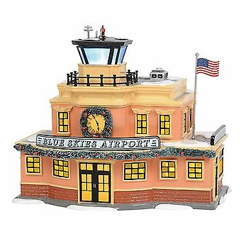 Blue Skies Airport Dept 56 Snow Village 6003139 Christmas City Building A
