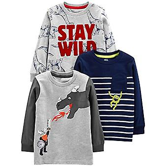 Simple Joys by Carter's Boys' Toddler 3-Pack Graphic Long-Sleeve Tees, Dino/M...