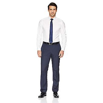 BUTTONED DOWN Men's Tailored Fit Spread-Collar Solid Non-Iron, White, Size 16.5