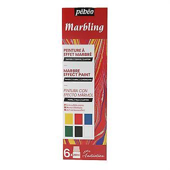 Pebeo Marbling Ink Initiation Set  6 x 20ml