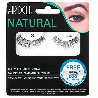 Ardell Natural Fashion Lashes - 105 Black - Gene Duo Adeziv inclus