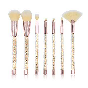 YANGFAN Transparent Diamond Handle Makeup Brush Set