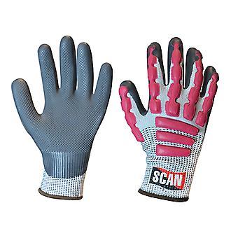 Scan Anti-Impact Latex Cut 5 handschoenen - Extra groot (maat 10)