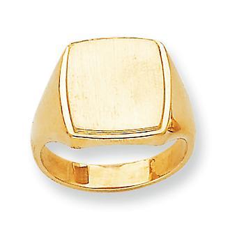 14 k giallo oro Mens incisione dell'anello di Signet - 14,0 grammi - taglia 10