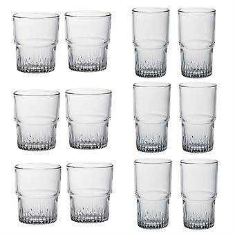 Duralex Empilable Verres à boire empilables - 200ml Tumblers, 340ml Highballs - Ensemble de 12