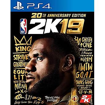 NBA 2K19 - 20th Anniversary Edition PS4 Game (Duitse Box Multi language in Game)
