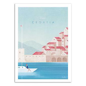 Art-Poster - Bezoek Kroatië - Henry Rivers