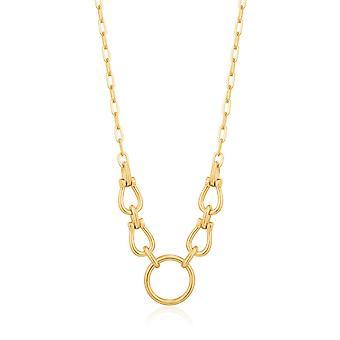 Ania Haie Kette Reaktion glänzend Gold Hufeisen Link Halskette N021-04G