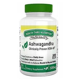 Health Thru Nutrition Ashwagandha, 500 mg, 90 Veg Caps