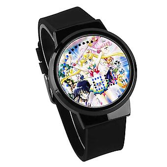 Nepremokavé svetelné LED digitálne dotykové detské hodinky - Sailor Moon #35