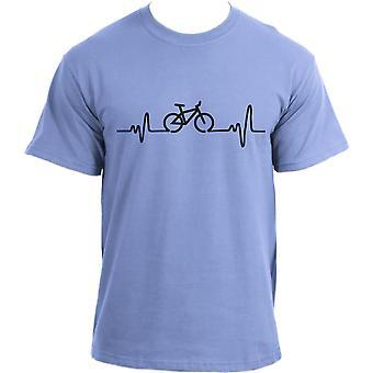 Heartbeat Cycling - Bicycle tee Bike sports top Cotton Short Sleeve T shirt