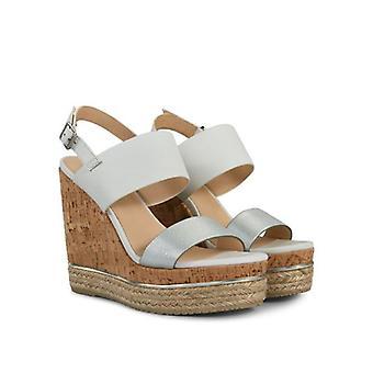 Sandalo Con Zeppa Hogan H324 Bianco