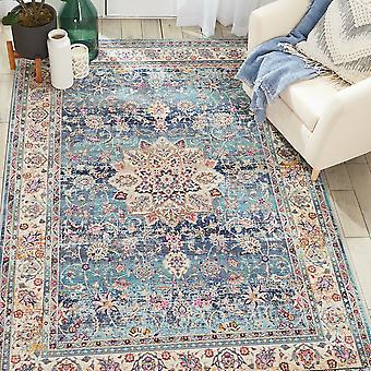 Vintage Kashan VKA01 blaues Rechteck Teppiche traditionelle Teppiche
