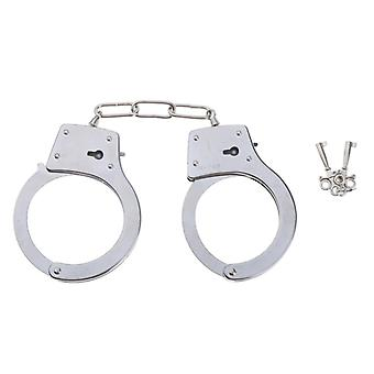 Heavy Duty Stainless Steel Metal Handcuffs, With Keys Party Favors Police