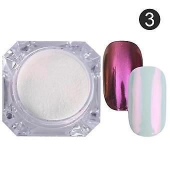 Spejl søm pulver, støv Metallisk farverige glitter med Uv Gel