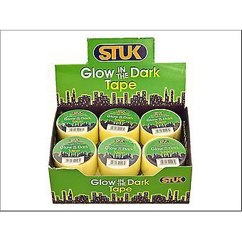 STUK Glow-in-Dark Tape 25mm x 1m GD251RD