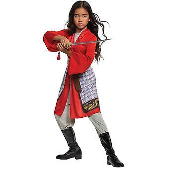 Girl's Mulan Hero rotes Kleid klassisches Kostüm