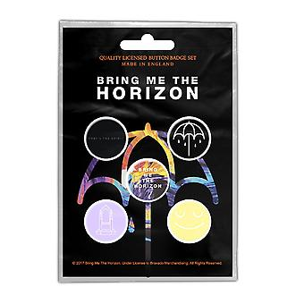 Tuokaa Horizon rintanappi Pack että henki virallinen musta 5 x Pin-painike