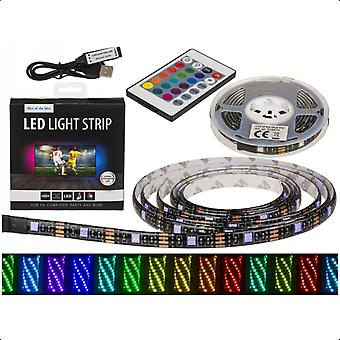LED Light Strip RGB With Remote Control 2m List/Loop Color Shifting