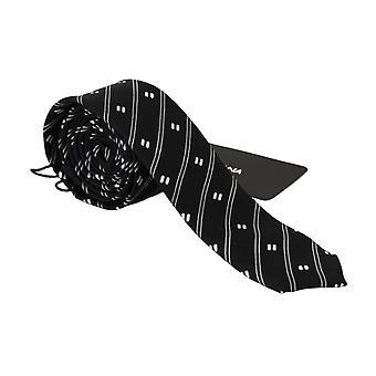 دولتشي آند غابانا الأسود مخطط سليم كلاسيك ربطة عنق 100٪ ربطة عنق الحرير