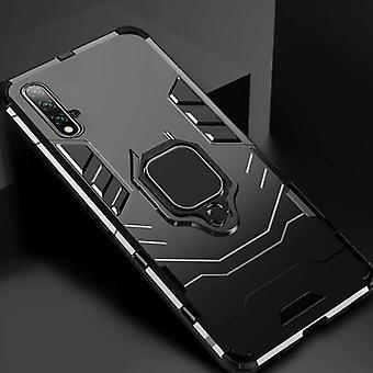 Keysion Huawei Honor 20 Case - Magnetische schokbestendige hoes Cas TPU Zwart + Kickstand