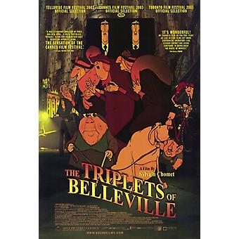 The Triplets of Belleville Movie Poster Print (27 x 40)