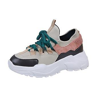 المرأة & apos;ق أحذية رياضية مكنّنة, سميكة أسفل منصة أحذية Vulcanize, أزياء