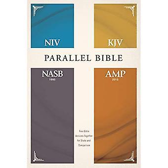 NIV, KJV, NASB, vahvistettu, rinnakkaisraamattu, kovalevy: Neljä Raamatun versiota yhdessä opiskelua ja vertailua varten