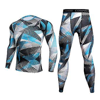 Men's Camouflage Thermal Unterwäsche Set, Winter Thermal Sports Kompression lang