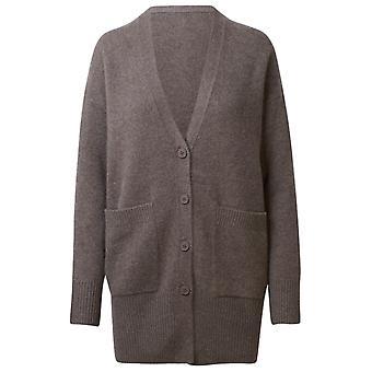 360 Cashmere 42208porc Women's Brown Cashmere Cardigan