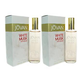 Jovan white musk wom 3.25 oz col spr two