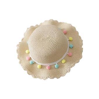 Chapeaux de soleil de plage d'été d'enfant pour, chapeau de voyage de seau de paille